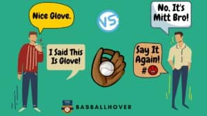 Difference between catchers mitts and gloves info-graphic