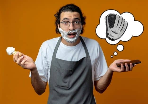how to break in a baseball glove with shaving cream featured image